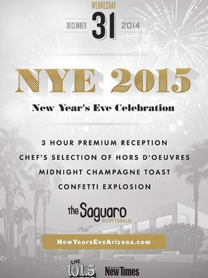 Saguaro's New Year's Eve party details.