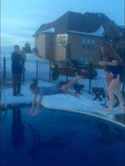 These kids decided to take a polar plunge to show up