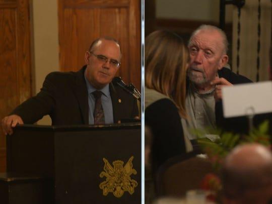 Doug Kuntz, left, and Bob Van Pelt, were inducted into