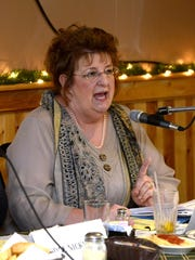 Okaloosa County schools Superintendent Mary Beth Jackson speaks on a panel about the school-to-prison pipeline in 2015 at Franco's Italian Restaurant in Pensacola.