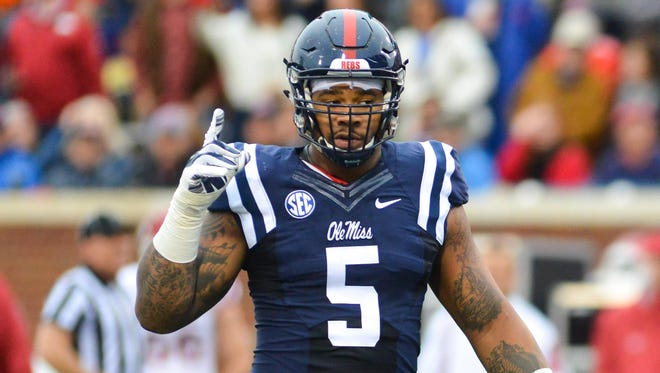 Ole Miss defensive tackle Robert Nkemdiche was named the co-defensive lineman of the week by the SEC.