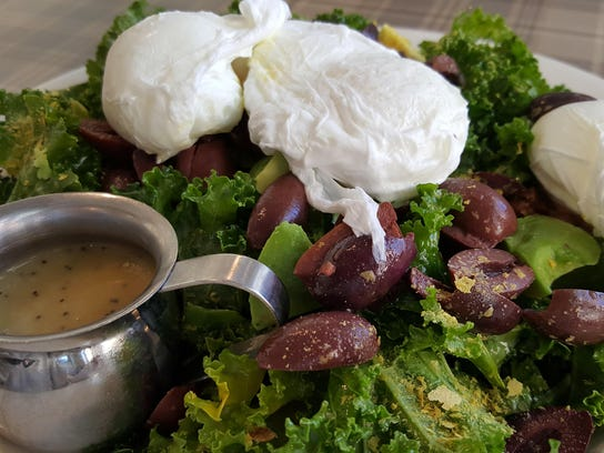 Healthy kale salad for lunch