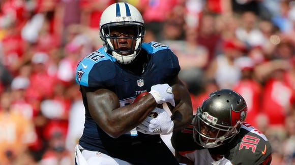Titans tight end Delanie Walker against the Buccaneers.
