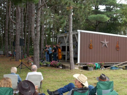 Bluegrass Under the Pines was hosted by Gale and Pam Kronforst at their property just west of Mishicot.