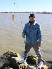 Zicheng Zhao, of Cincinnati, reeled in a few yellow