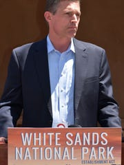 U.S. Sen. Martin Heinrich visited White Sands National Monument Friday afternoon to talk about the White Sands National Park Establishment Act, legislation he plans to introduce to designate White Sands as New Mexico's newest national park.