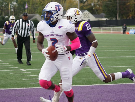 Tennessee State receiver Patrick Smith had a career-high