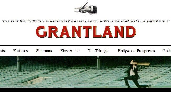 Grantland's original title page.