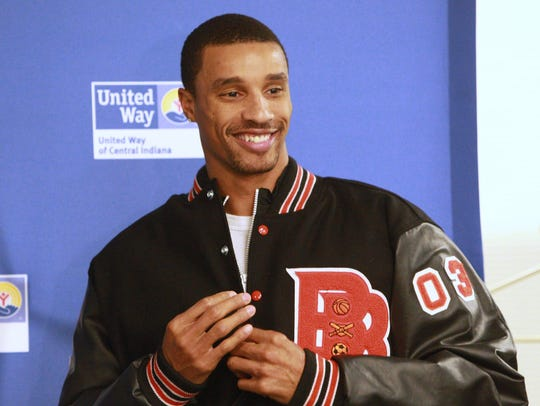 FILE – Former Broad Ripple grad George Hill is presented