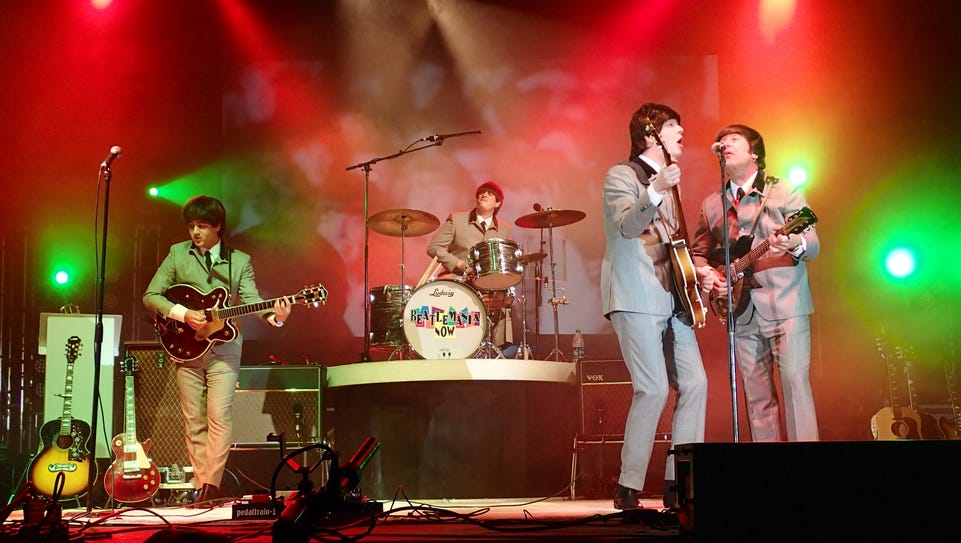 The Beatles tribute band Beatlemania Now will perform