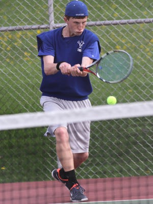 St. Peter's unbeaten Luke Henrich is the defending singles champ in this week's Division II sectional tennis tournament at Shelby High School.