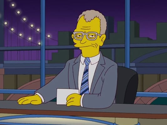 Simpsons David Letterman
