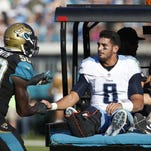 Marcus Mariota out of walking boot, expects to be ready for Titans training camp