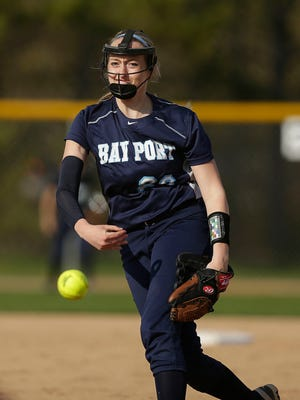 Junior pitcher Sydney LaPoint is a key reason the Bay Port softball team has allowed only 13 runs during its 9-1 start. She has a 0.88 ERA in Fox River Classic Conference play.