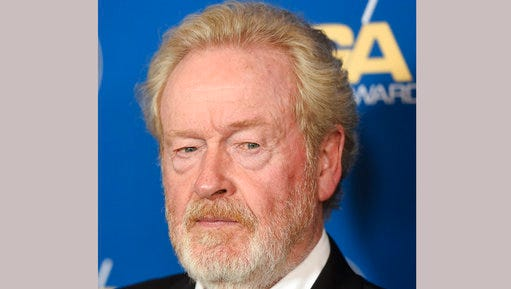 "FILE - In this Feb. 4, 2017 file photo, Ridley Scott, recipient of the Lifetime Achievement in Feature Film Direction Award, poses at the 69th Annual Directors Guild of America Awards in Beverly Hills, Calif.  Almost 40 years after ""Alien"" shocked audiences, Ridley Scott is returning to the well that made him a star director with a new terrifying installment, ""Alien: Covenant."""