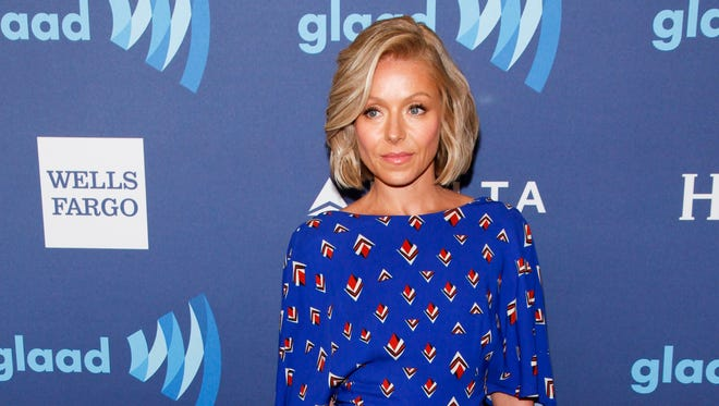Kelly Ripa attends the 26th Annual GLAAD Media Awards at the Waldorf Astoria on Saturday, May 9, 2015, in New York.