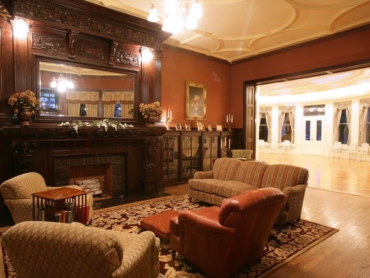 The library at Boldt Castle has been restored to what