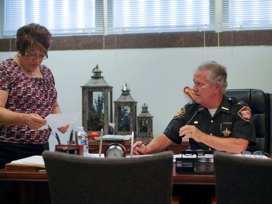 In this Aug. 9, 2017, photo, Lucas County Sheriff John