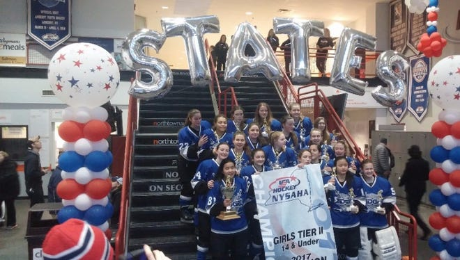The Rochester Edge U14 girls hockey team took home the state title in Amherst and are headed to national tournament April 6-10 in Michigan.