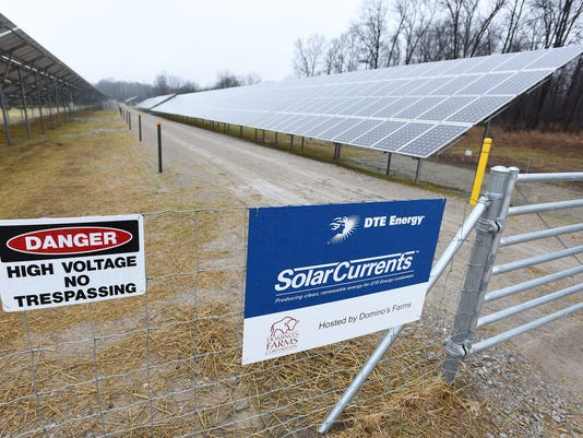 DTE Energy solar panel array