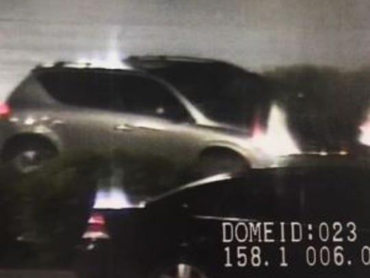 Getaway vehicle: Police said the suspected Walmart