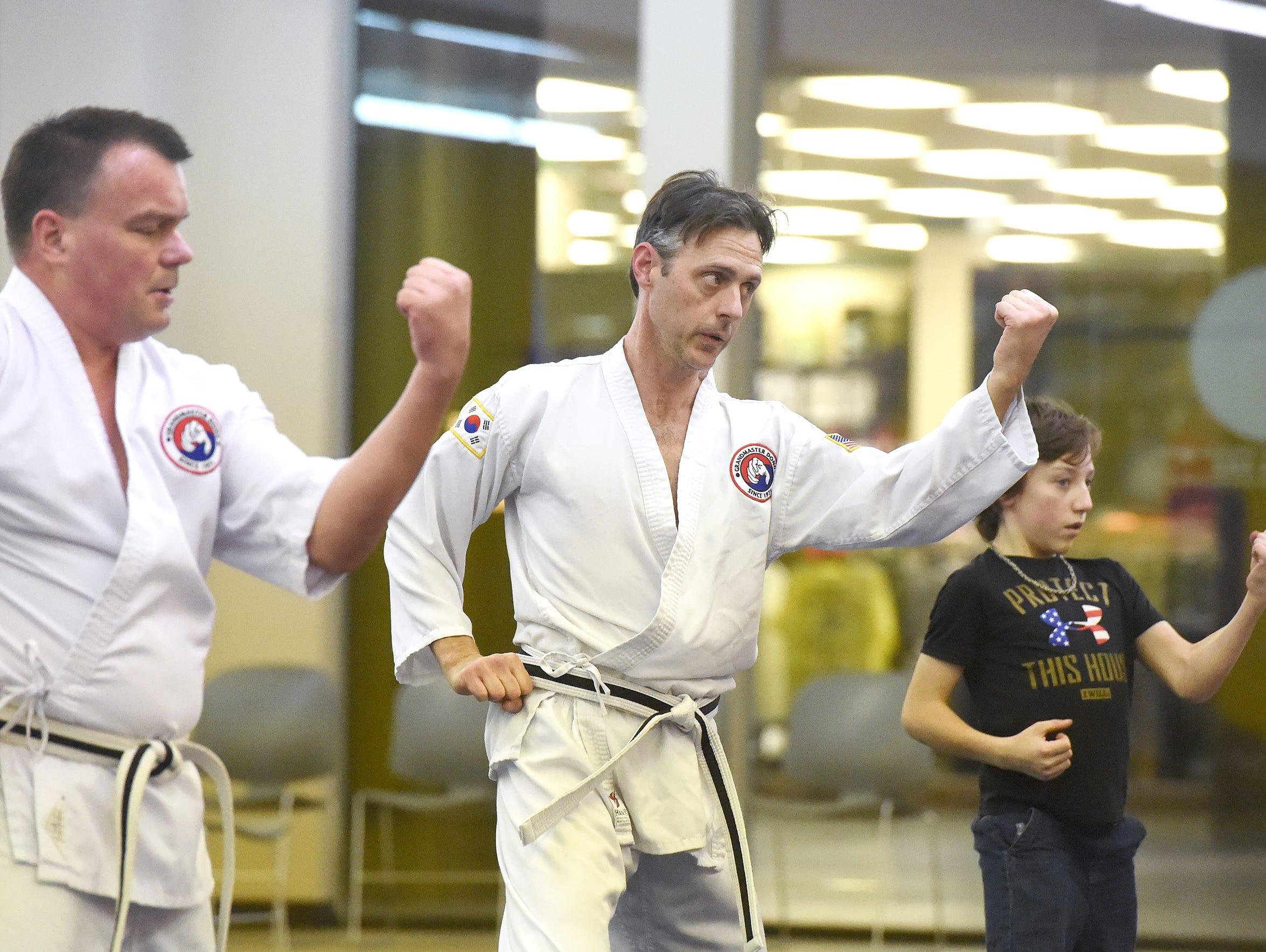 J.P. Scheidler, a BoDan (pre-black belt) in Tae Kwon