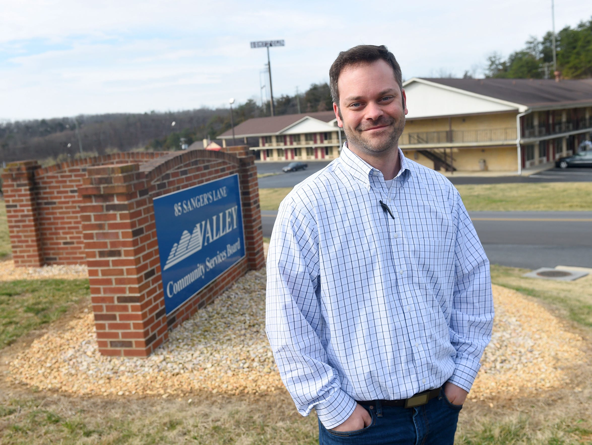 Dustin Wright works as community liaison with administrative
