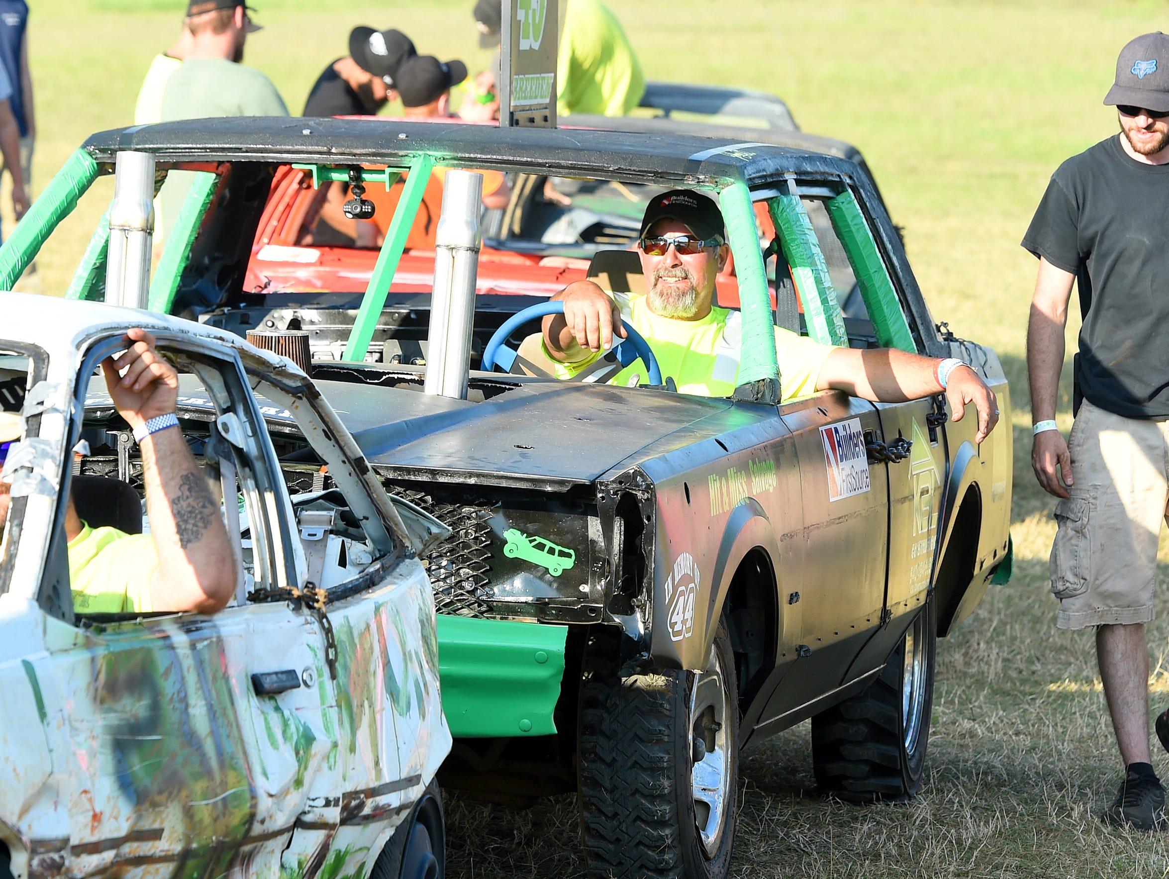 Behind the wheel, John Breeden of New Hope has his