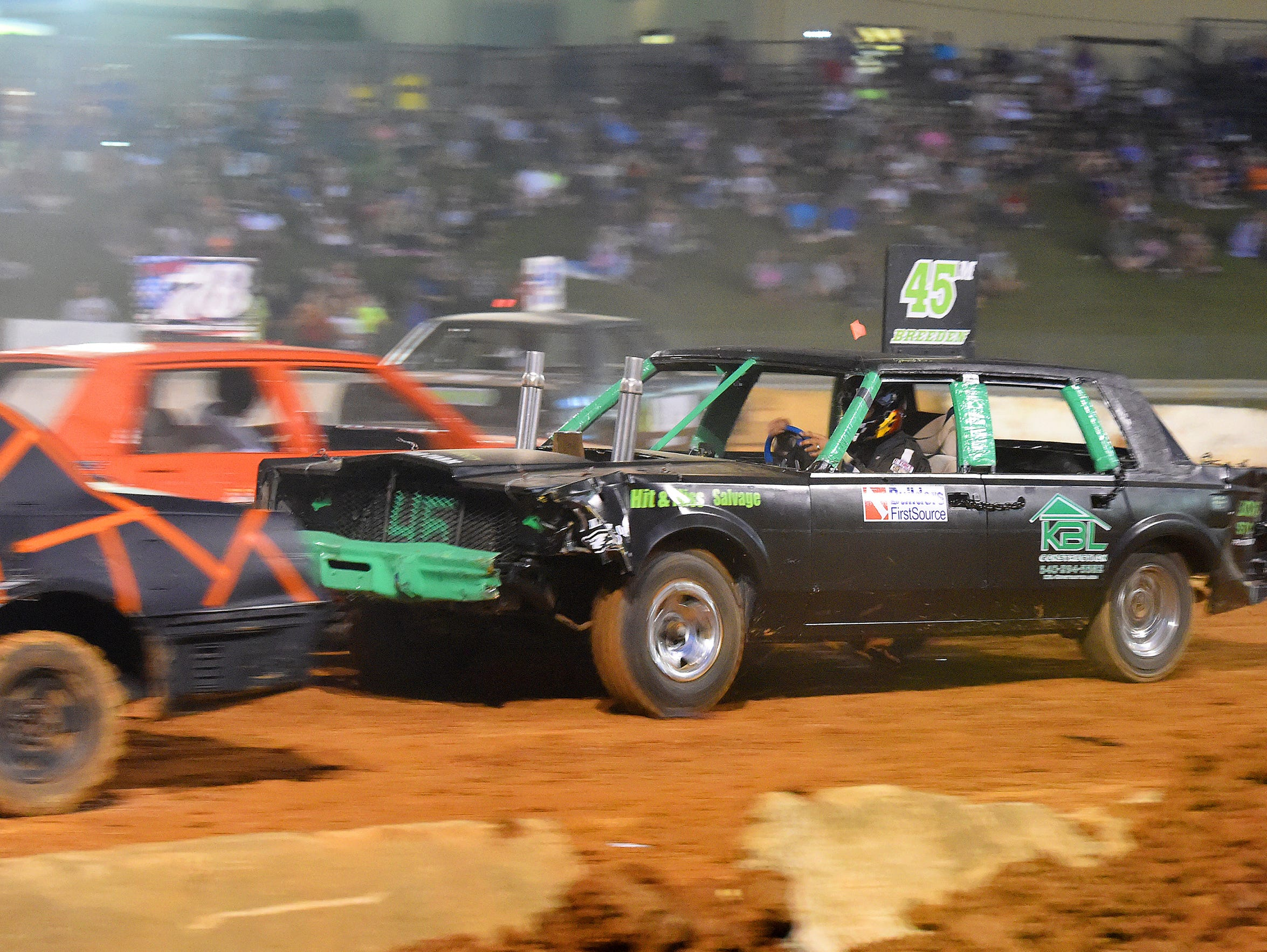 John Breeden of New Hope competes in the stock car