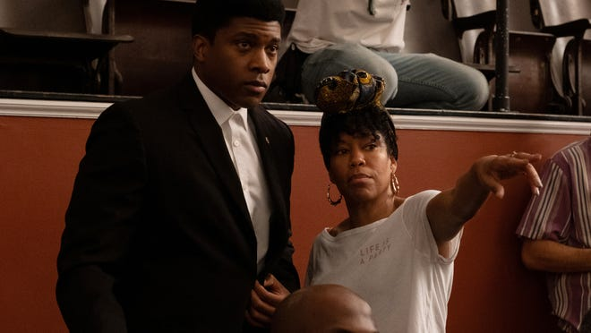 "Regina King directs Eli Goree in ""One Night in Miami."""