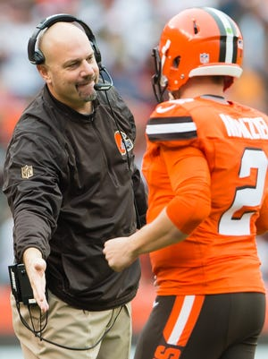Will Browns quarterback Johnny Manziel make his ninth career start for coach Mike Pettine on Sunday?