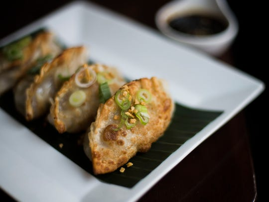 Crab and pork dumplings from Circles Contemporary Asian Cuisine in Collingswood.