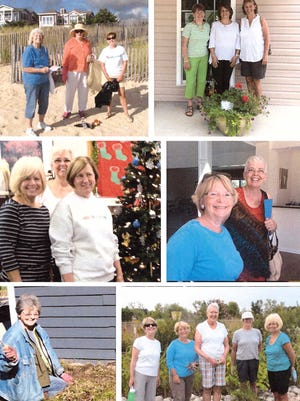 A photo collage of members of the Gardeners by the Sea in Bethany Beach taking part in various community outreach activities that the club promotes each year.