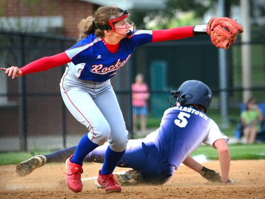 Spring Grove's Hannah Gartrell catches the ball at