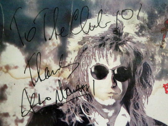 Joe Dorgan has a signed poster from '80s rocker Aldo