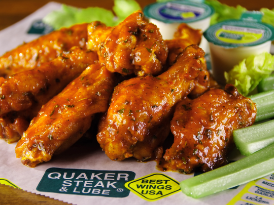 Quarter Steak and Lube is famous for their wings.