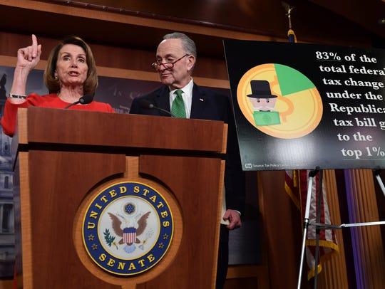 Nancy Pelosi y Chuck Schumer, líderes de la Cámara Baja y el Senado, respectivamente.