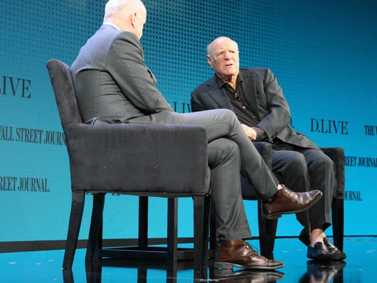 Barry Diller (R) at a Wall Street Journal DLive conference
