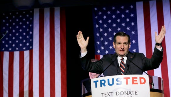Ted Cruz speaks during an election night watch party