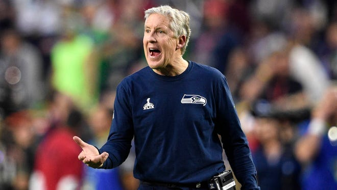 Pete Carroll and the Seahawks were one yard away from being the first repeat winners of the Super Bowl since 2003-04.