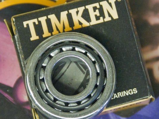 Timken roller bearing.