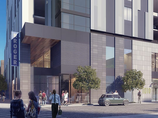 A rendering of Kroger's proposed Downtown supermarket