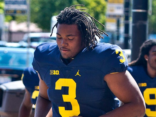 Michigan defensive end Rashan Gary