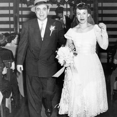 Mitch Albom's parents on their wedding day.