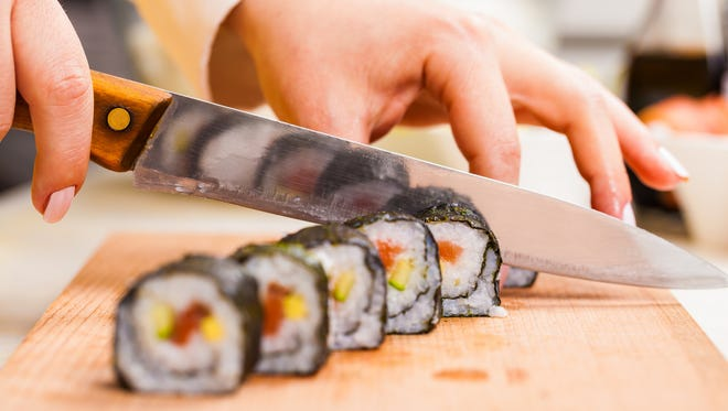 Sushi making class on December 9th at The Art Institute