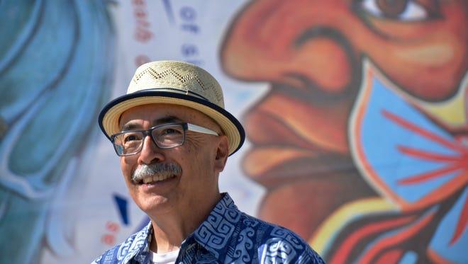 Juan Felipe at the Unity Poem Fiesta in Riverside, California, in 2014.
