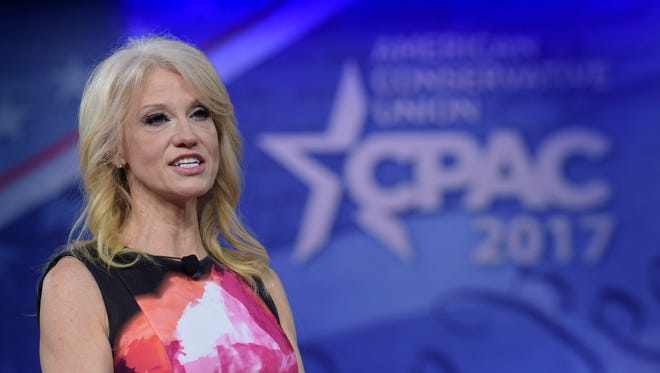 White House counselor Kellyanne Conway speaks at the Conservative Political Action Conference in National Harbor, Md., on Feb. 23, 2017.