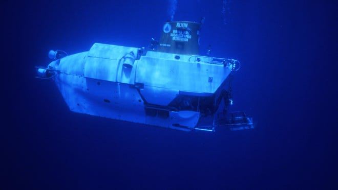 The three-person submersible Alvin can dive to just under 15,000 feet, enabling it to reach much of the world's ocean floor. The sub typically makes 150-200 dives each year.