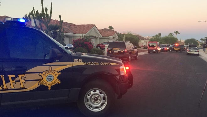 Maricopa County Sheriff's Office deputies report finding two people dead at a Sun City West home on Saturday.