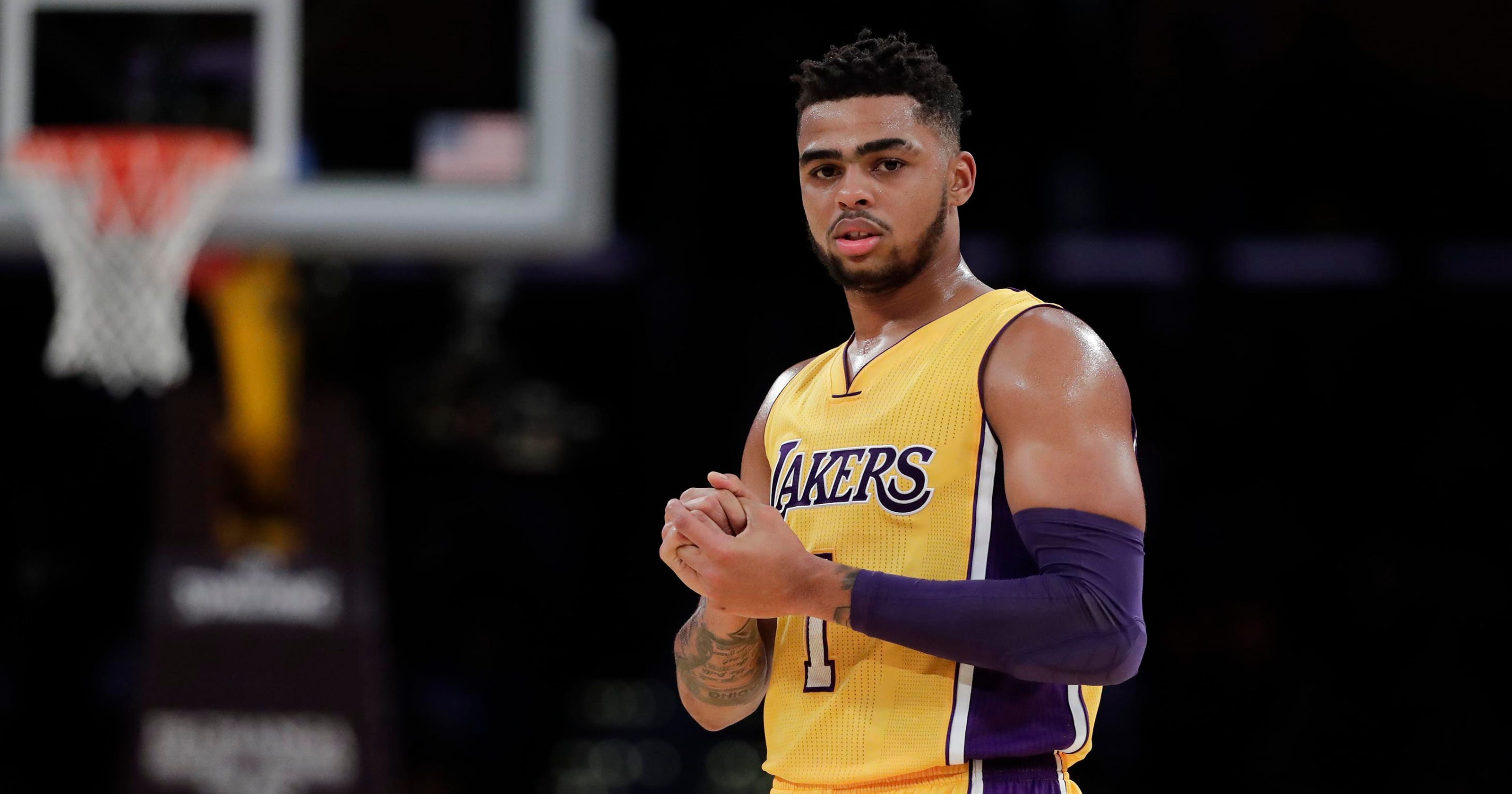 1aa216cd452c D Angelo Russell has new Muhammad Ali tattoo